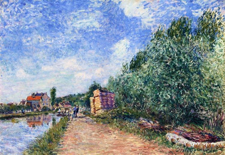 Canal du Loing Chemin de Halage, 1882 - Alfred Sisley
