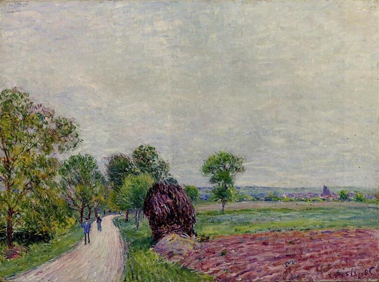 Countryside near Moret, 1885 - Alfred Sisley