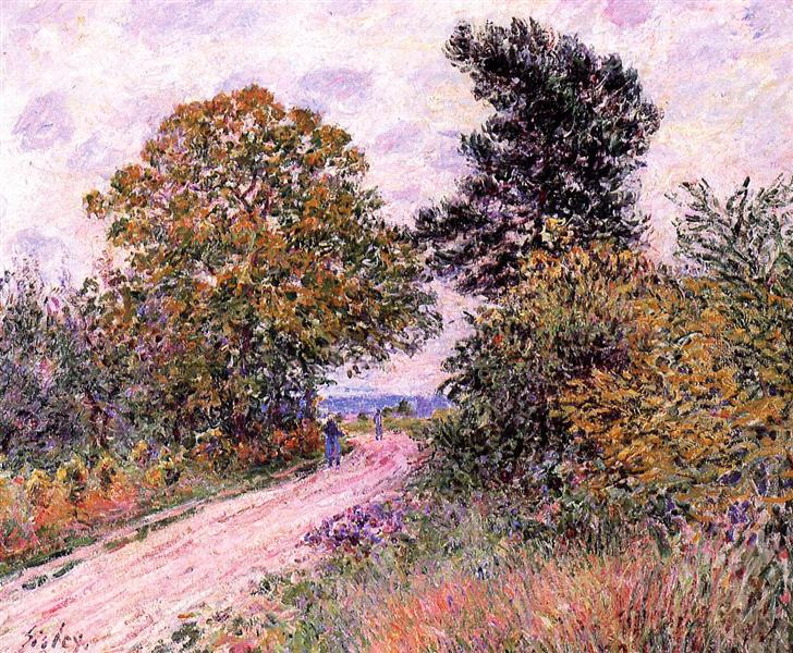 Edge of the Fountainbleau Forest Morning, 1885 - Alfred Sisley
