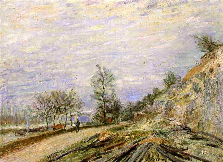 On the Road from Moret, 1882 - Alfred Sisley