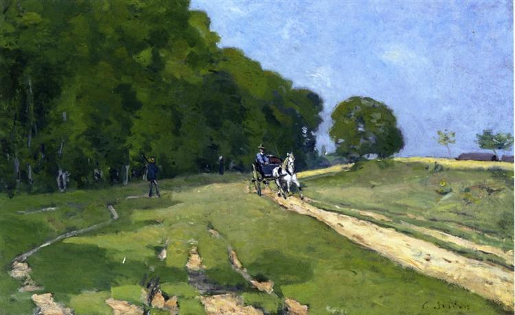 Path near the Parc de Courances, 1868 - Alfred Sisley