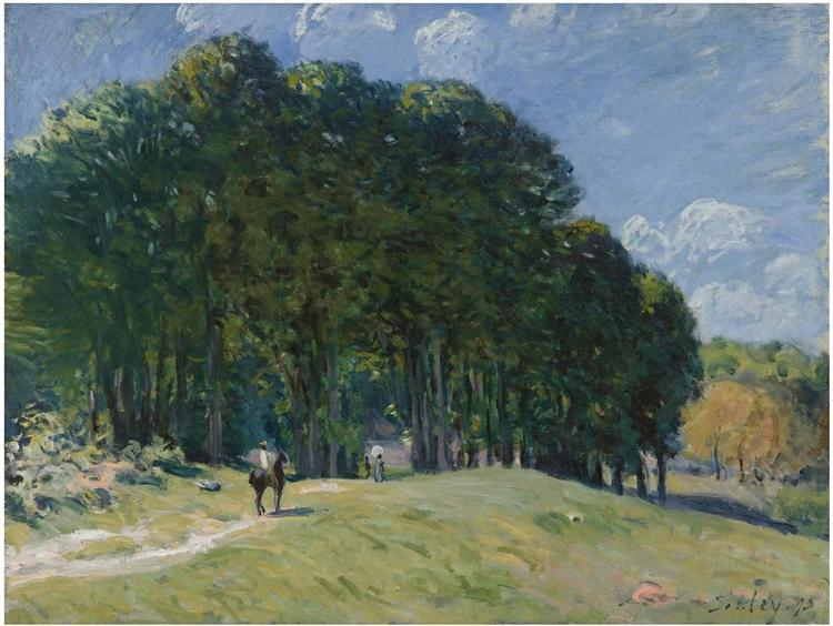 Rider at the Edge of the Forest, 1875 - Alfred Sisley