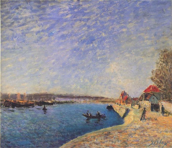 River Loing at Saint Mammes - Alfred Sisley