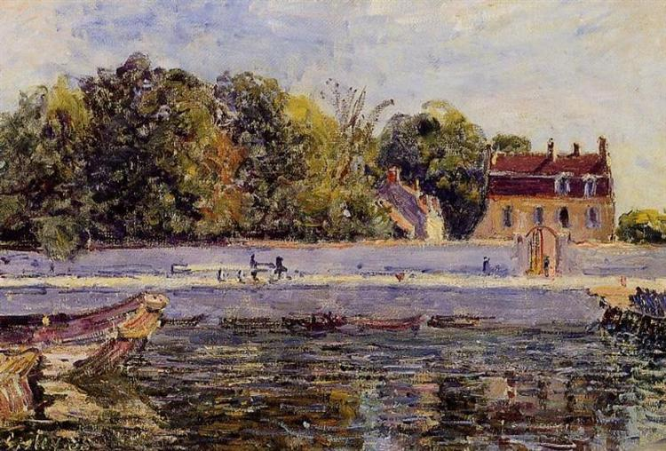 Saint Mammes House on the Canal du Loing, 1885 - Alfred Sisley