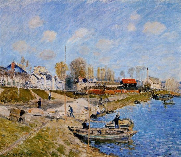 Sand on the Quayside, Port Marly, 1875 - Alfred Sisley