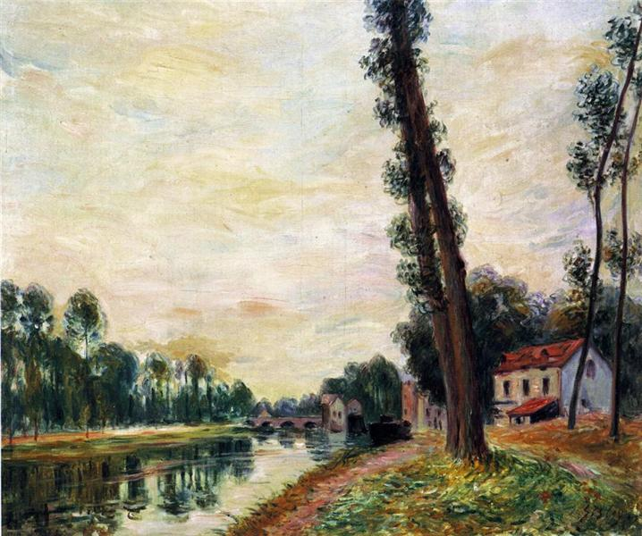 The Banks of the Loing, 1892 - Alfred Sisley
