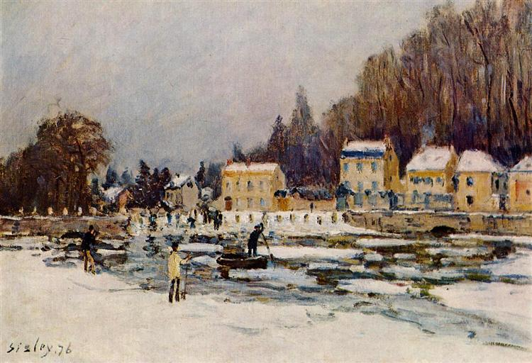 The Blocked Seine at Port Marly, 1876 - Alfred Sisley