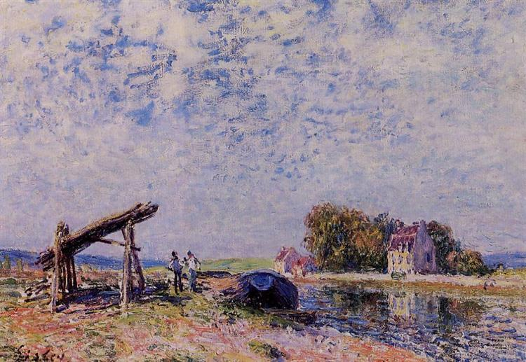 The Loing Canal at Saint Mammes, 1884 - Alfred Sisley