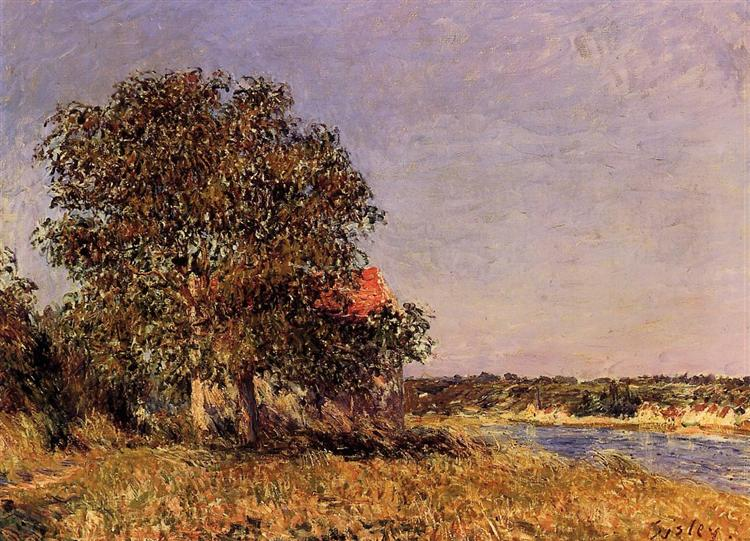 The Plain of Thomery and the Village of Champagne, 1882 - Alfred Sisley