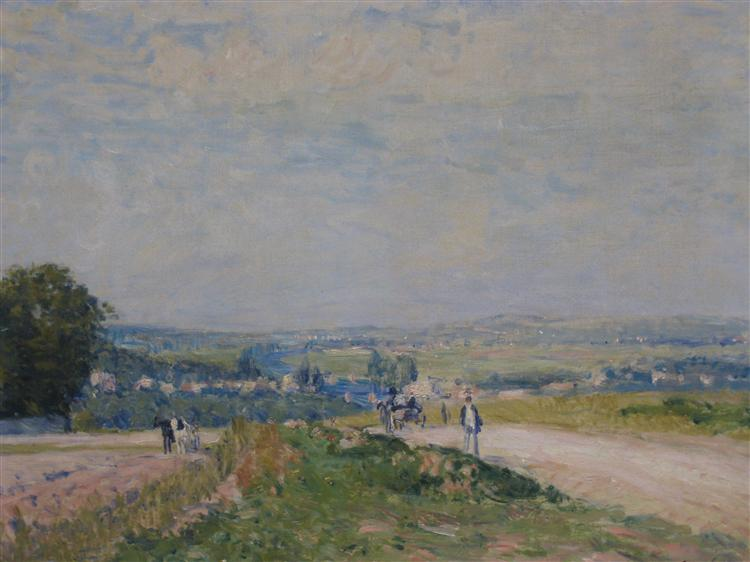 The Road to Louveciennes Montbuisson - Alfred Sisley