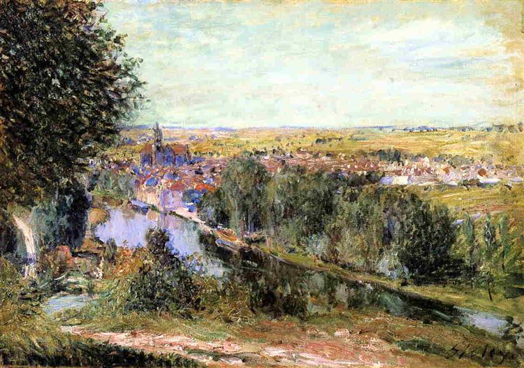 View of Moret, 1880 - Alfred Sisley