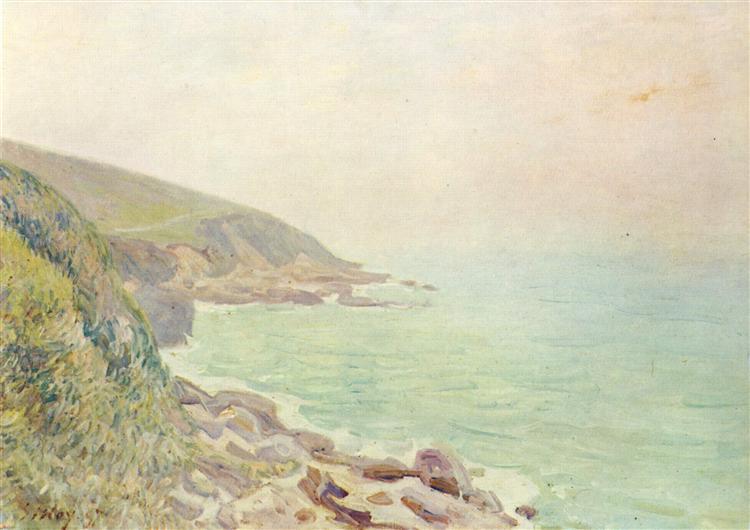 Welsh Coast in the fog, 1887 - Alfred Sisley
