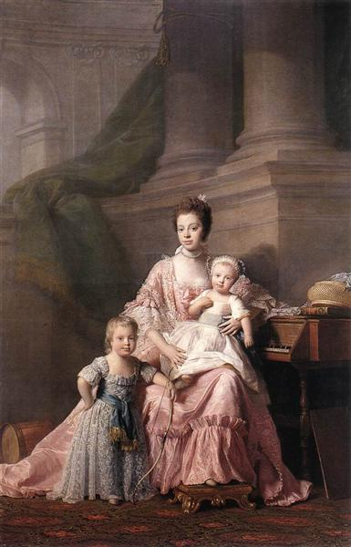 Queen Charlotte with her Two Children, c.1765 - Allan Ramsay