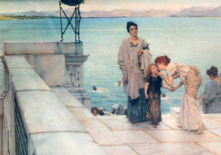 A Kiss, 1891 - Sir Lawrence Alma-Tadema