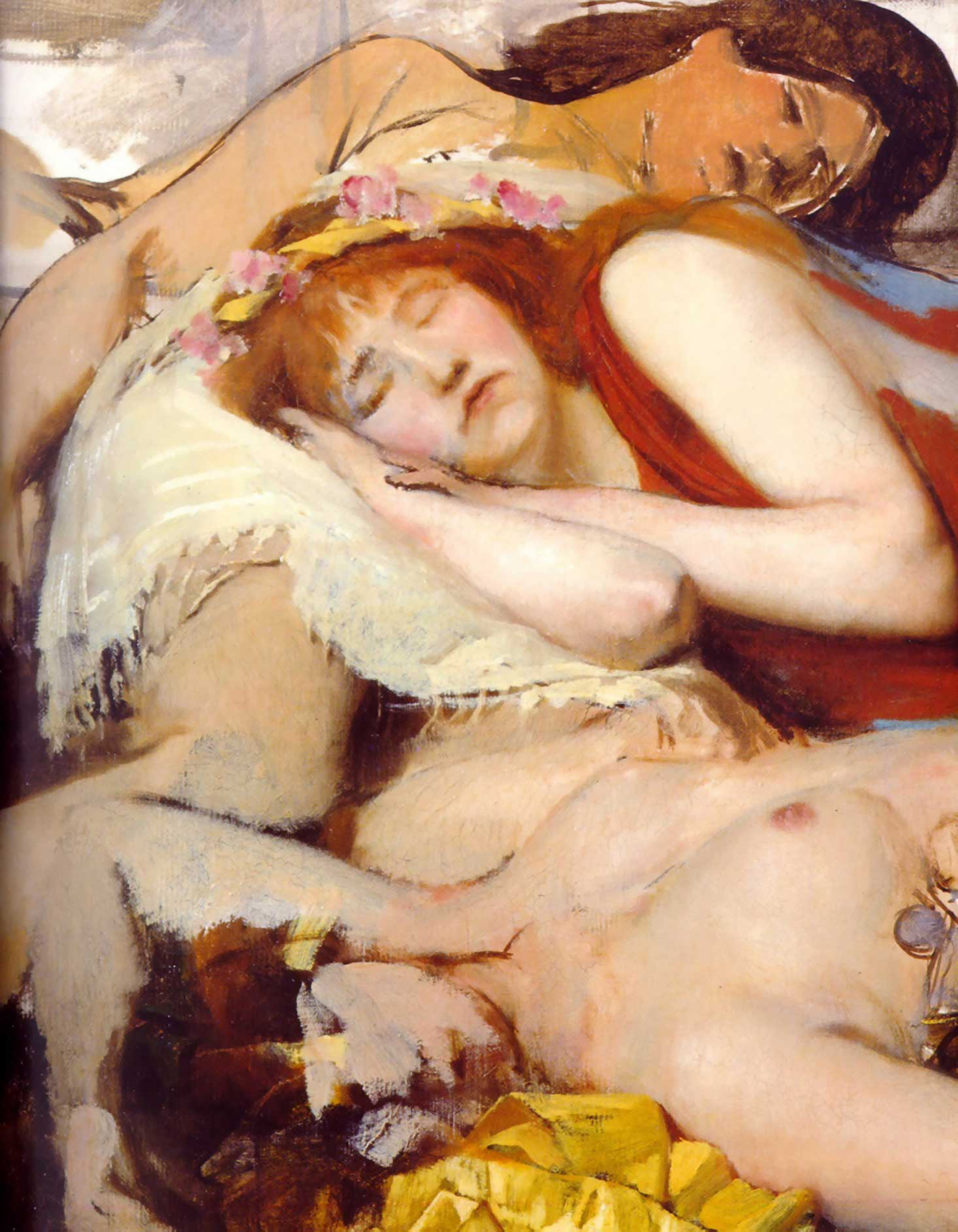 Exhausted Maenides after the Dance, 1873-1874
