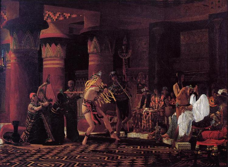 Pastimes in Ancient Egyupe 3 000 Years Ago, 1863 - Sir Lawrence Alma-Tadema