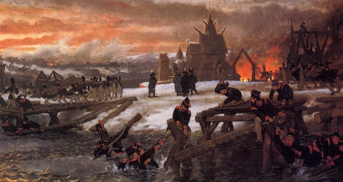 The Crossing of the River Berizina, 1859-1869