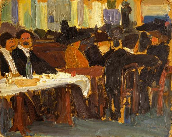 Cafe in Paris, 1908 - Amadeo de Souza-Cardoso