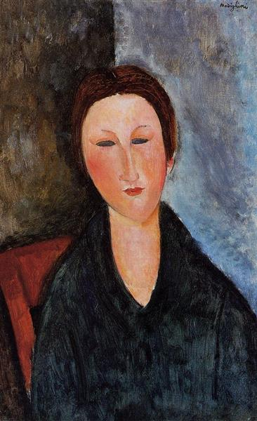 Bust of a Young Woman (Mademoiselle Marthe), 1916 - 1917 - Amedeo Modigliani
