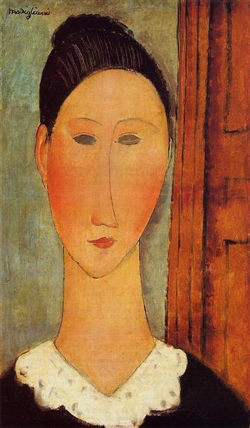 Head of a Girl, c.1918 - Amedeo Modigliani