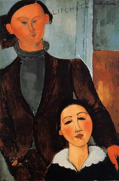 Jacques and Berthe Lipchitz, 1917 - Amedeo Modigliani