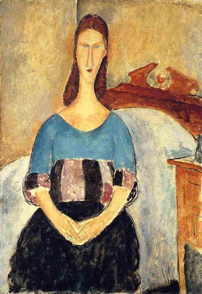 Jeanne Hebuterne, 1919 - Амедео Модільяні