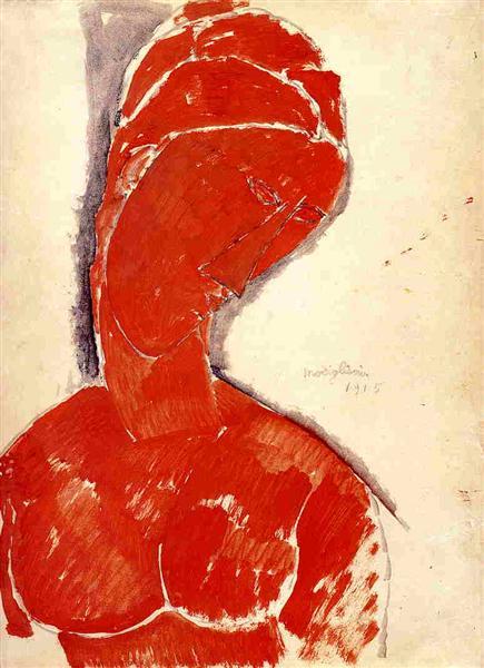 Nude Bust, 1915 - Amedeo Modigliani