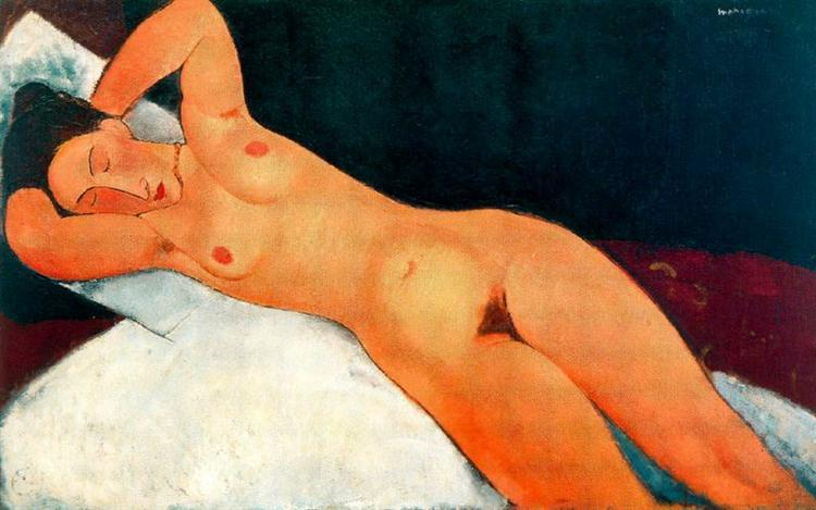 Nude with Necklace, 1917 - Amedeo Modigliani