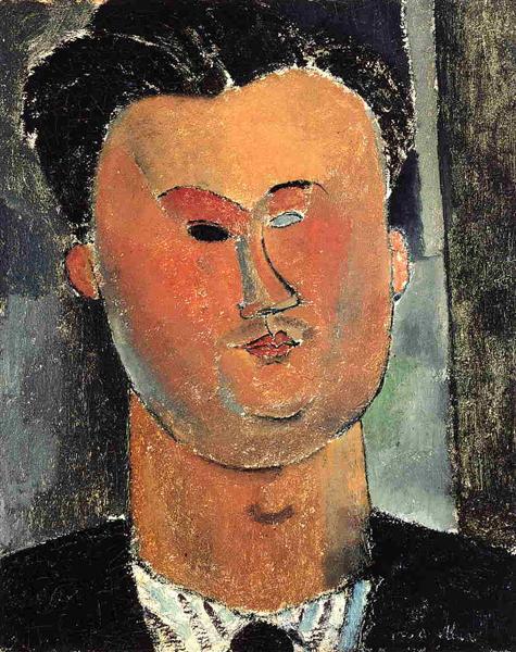 Пьер Реверди, c.1915 - Амедео Модильяни