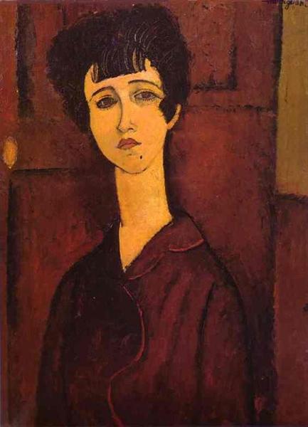 Portrait of a girl (Victoria), 1917 - Amedeo Modigliani