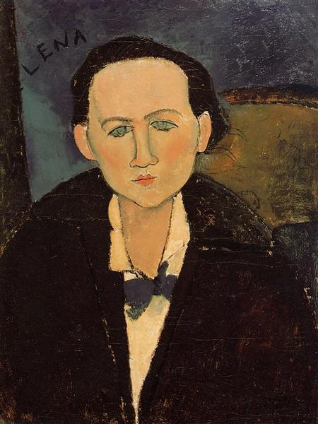 Portrait of Elena Pavlowski, 1917 - Amedeo Modigliani