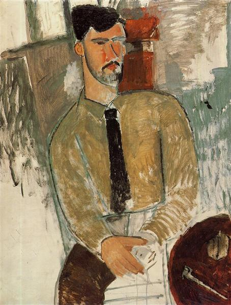 Portrait of Henri Laurens, 1915 - Amedeo Modigliani