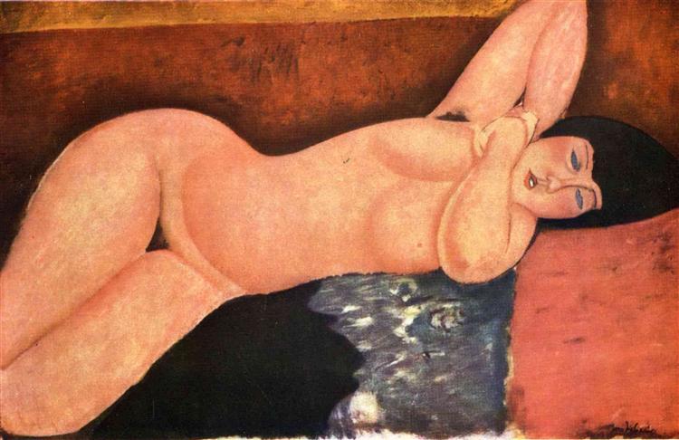 Reclining nude, c.1917 - Amedeo Modigliani