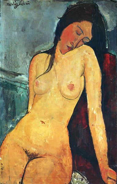 Seated female nude, 1916 - Amedeo Modigliani