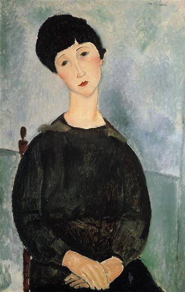 Seated Young Woman, 1918 - Amedeo Modigliani