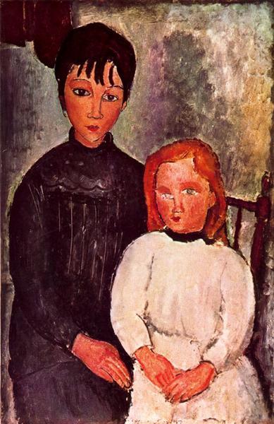 Two girls, 1918 - Amedeo Modigliani