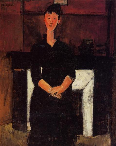 Woman Seated by a Fireplace, 1915 - Amedeo Modigliani