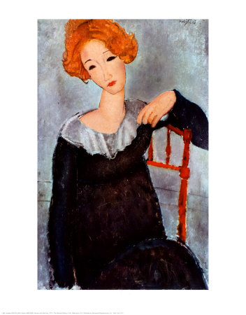 Women with Red Hair, 1917 - Amedeo Modigliani