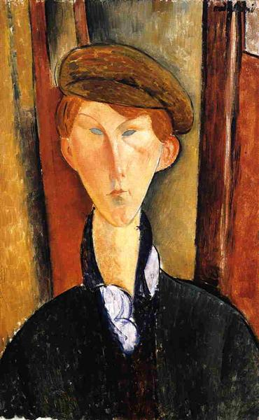 Young Man with Cap, 1919 - Amedeo Modigliani