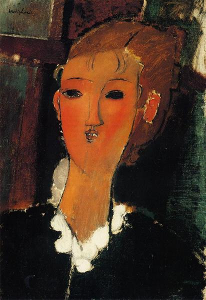 Young Woman in a Small Ruff, 1915 - Amedeo Modigliani