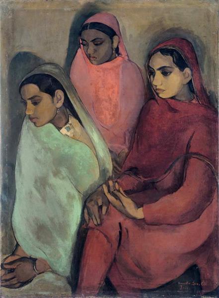 Three Girls, 1935 - Amrita Sher-Gil