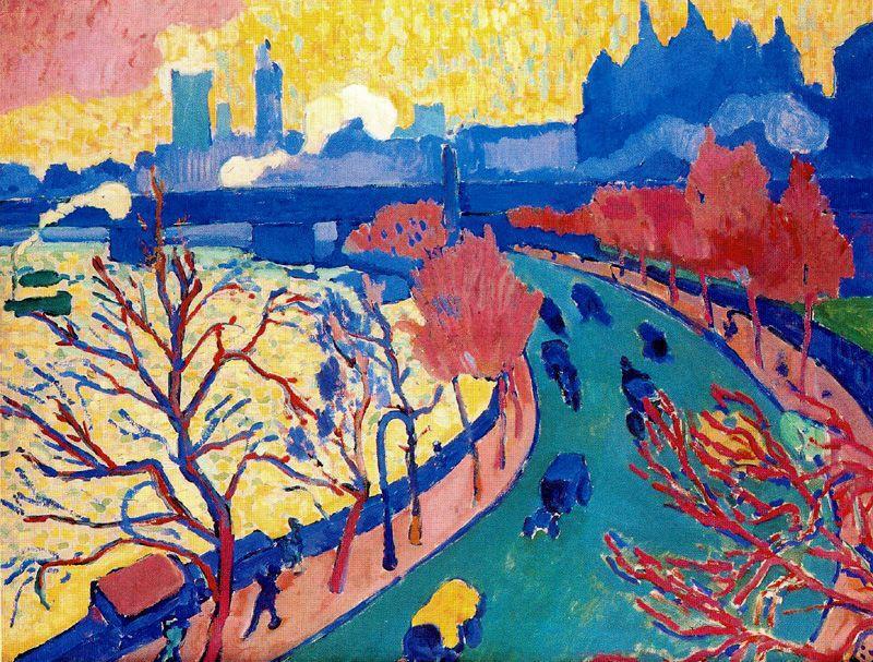 Puente en Westminster - André Derain - Fauvismo - Domingo com Limonada