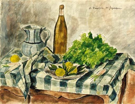 La bouteille de vin blanc - André Dunoyer de Segonzac