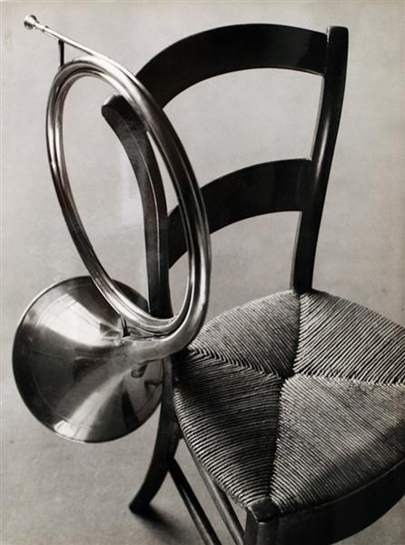 Chair with French Horn, 1927 - Andre Kertesz