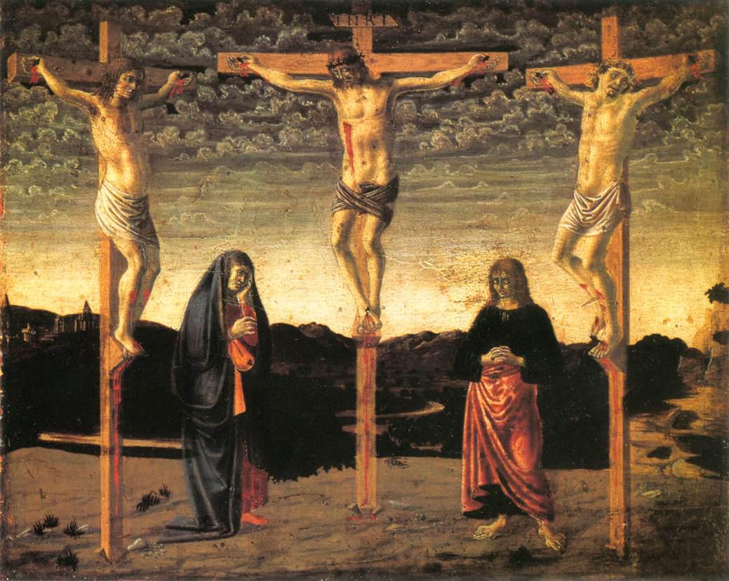 crucifixion c 1450 andrea del castagno wikiart org