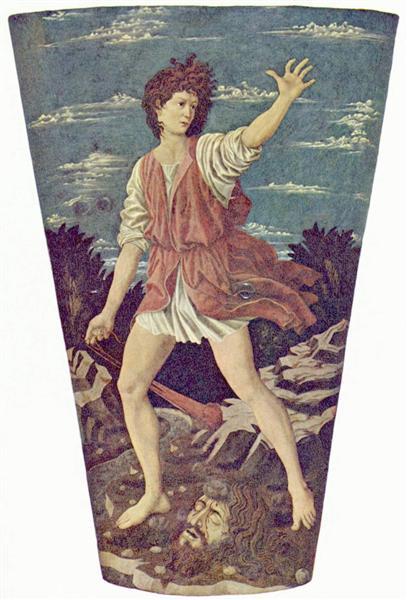 David with the Head of Goliath, c.1453 - Andrea del Castagno