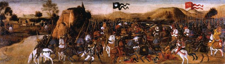 The Battle of Pydna, c.1475 - Andrea del Verrocchio
