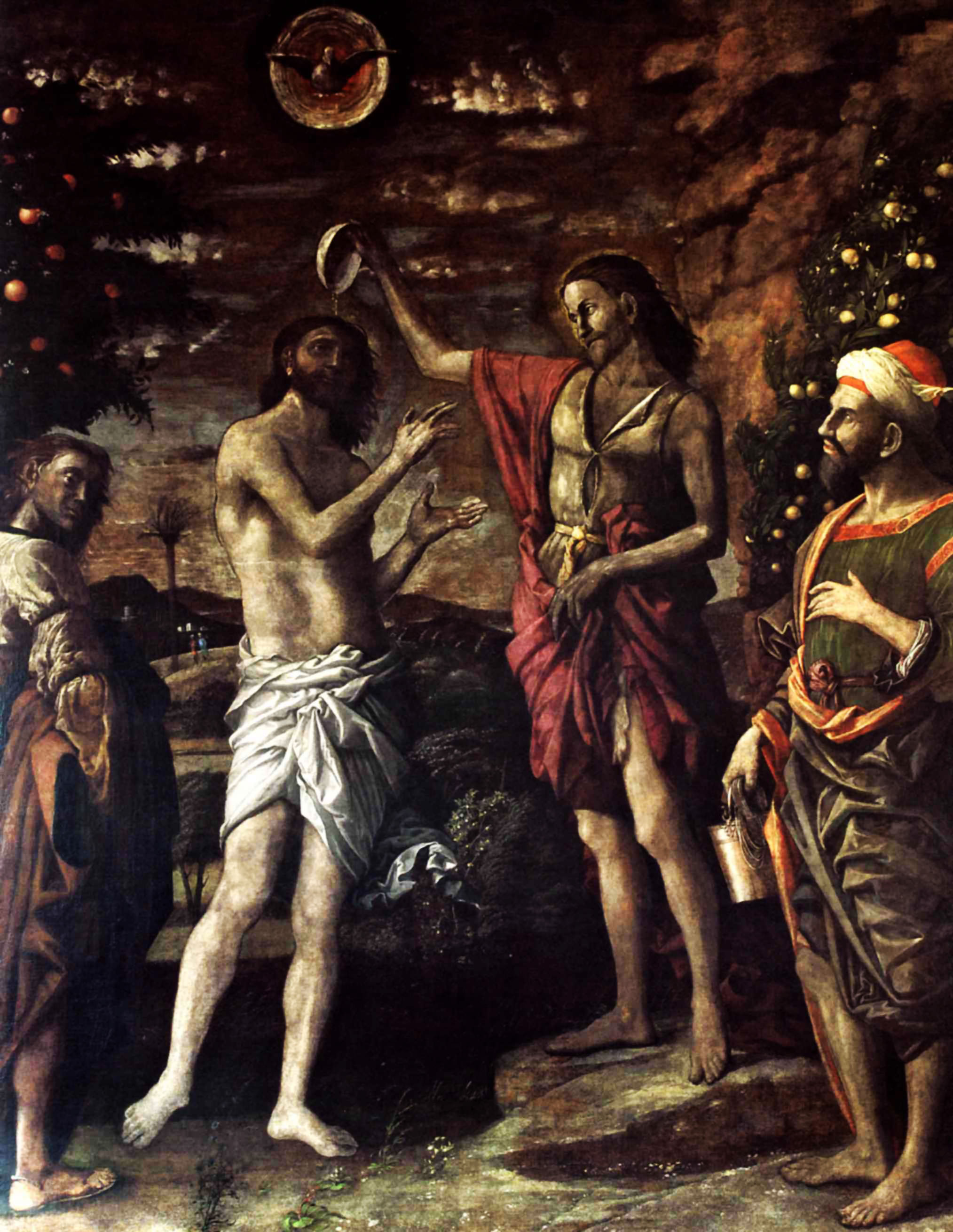 the baptism of christ 1506 andrea mantegna wikiart org