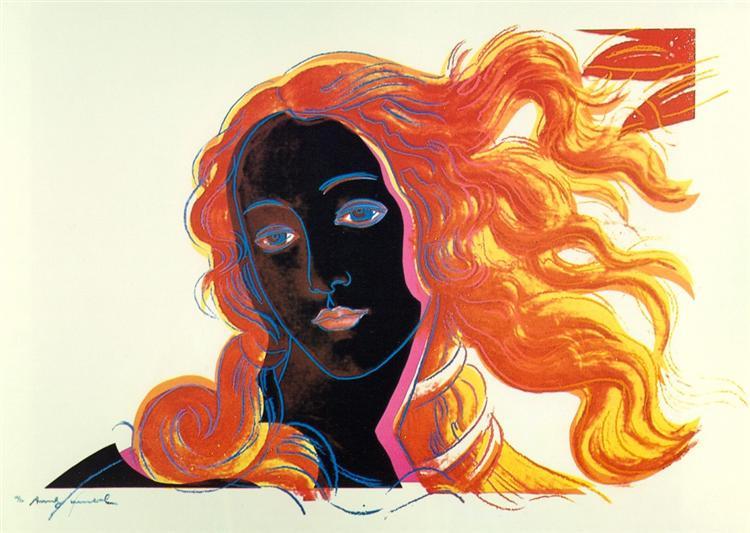 Botticelli (dettaglio), 1984 - Andy Warhol