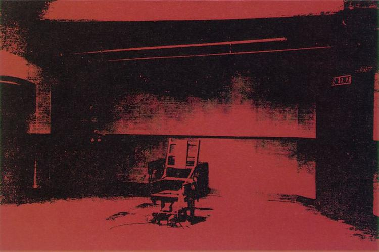 Early electric chair, 1963 - Andy Warhol